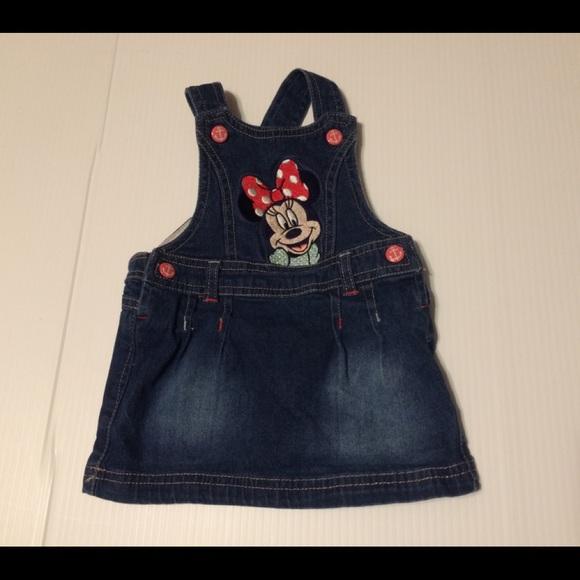 Mickey Mouse baby girls denim dress 6/8 mos